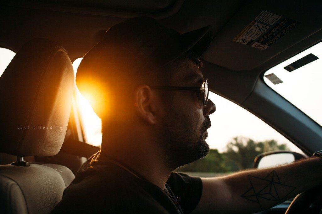 family sunset roadtrip
